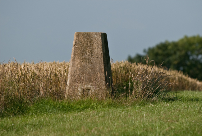 trig point on the uk Chaser course